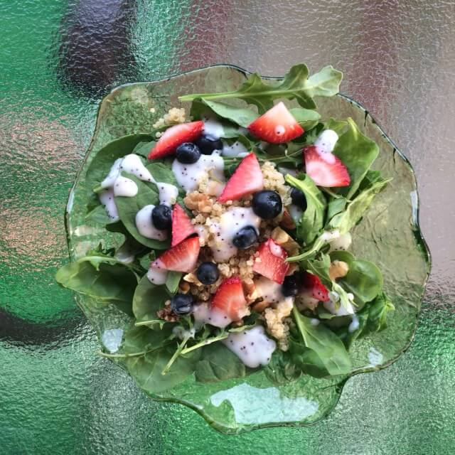 salad with strawberries and blueberries